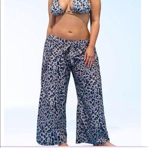ASHLEY GRAHAM® REINA  Leopard BEACH PANT COVERUP